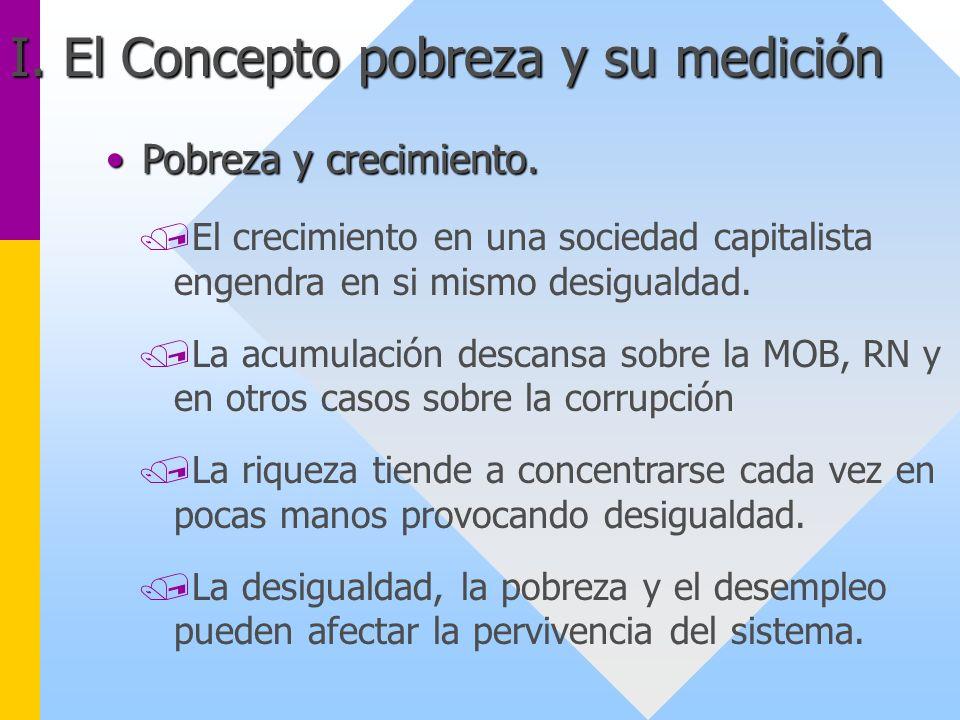 Pobreza y crecimiento.Pobreza y crecimiento. /El crecimiento en una sociedad capitalista engendra en si mismo desigualdad. /La acumulación descansa so