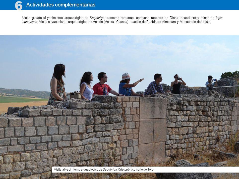 Visita guiada al yacimiento arqueológico de Segobriga, canteras romanas, santuario rupestre de Diana, acueducto y minas de lapis specularis. Visita al