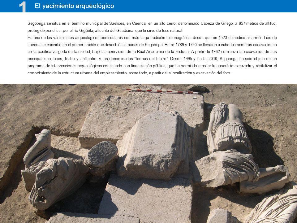 Tras 50 años de excavaciones arqueológicas (1962- 2012), Segobriga es hoy referente para el estudio de la urbanística romana en el Occidente del Imperio Romano.