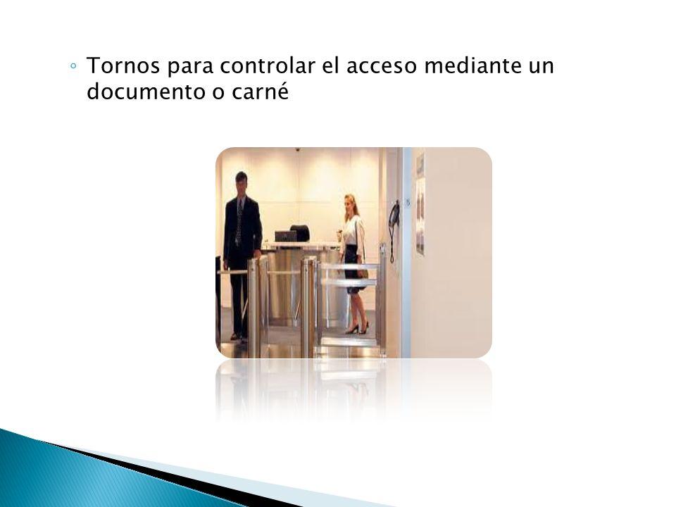 Tornos para controlar el acceso mediante un documento o carné