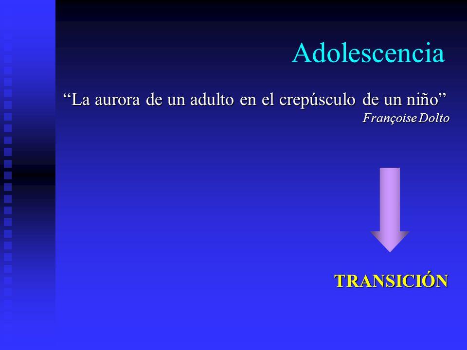 Adolescencia La aurora de un adulto en el crepúsculo de un niño Françoise Dolto TRANSICIÓN