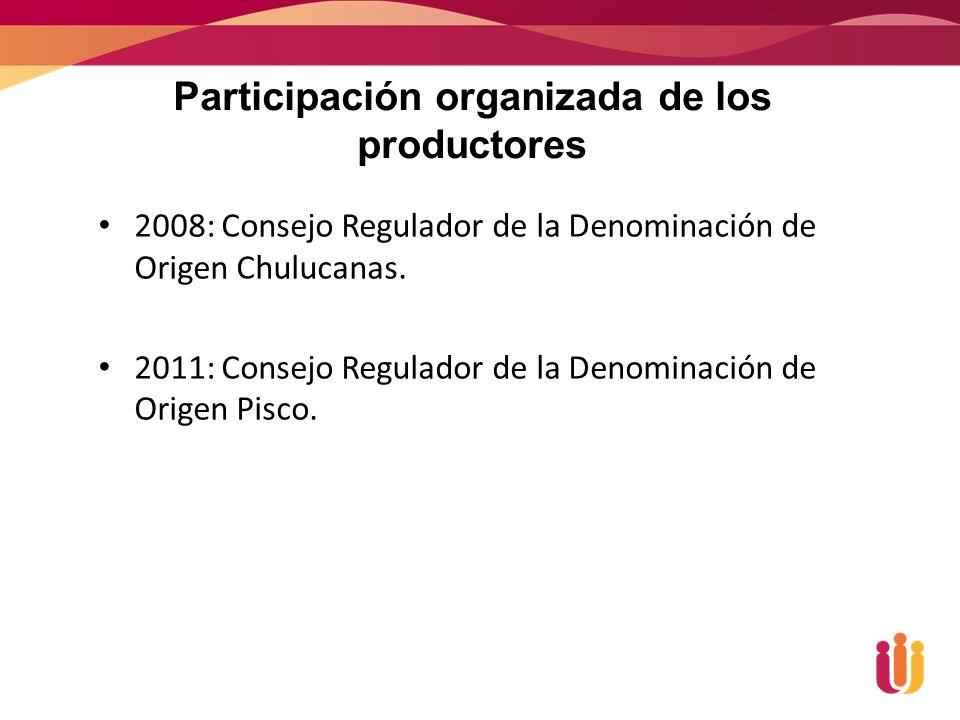 2008: Consejo Regulador de la Denominación de Origen Chulucanas.