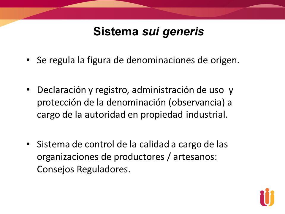 Se regula la figura de denominaciones de origen.