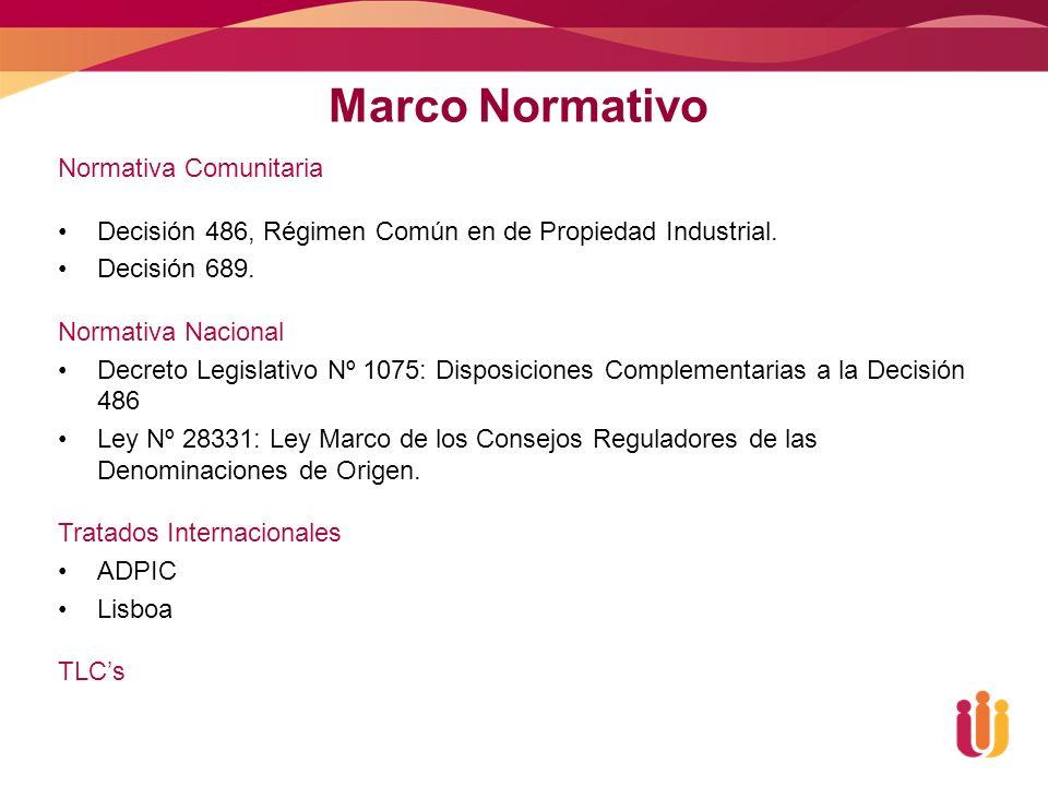 Marco Normativo Normativa Comunitaria Decisión 486, Régimen Común en de Propiedad Industrial.