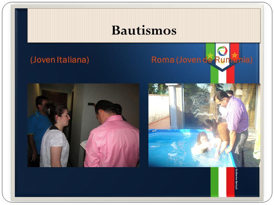 Bautismos (Joven Italiana)Roma (Joven de Rumania)