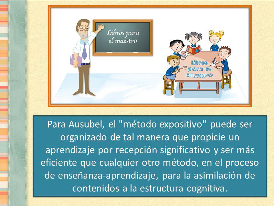El aprendizaje por recepción surge solamente cuando el niño alcanza un nivel de madurez cognitiva tal, que le permita comprender conceptos y proposiciones presentados verbalmente sin que sea necesario el soporte empírico concreto.