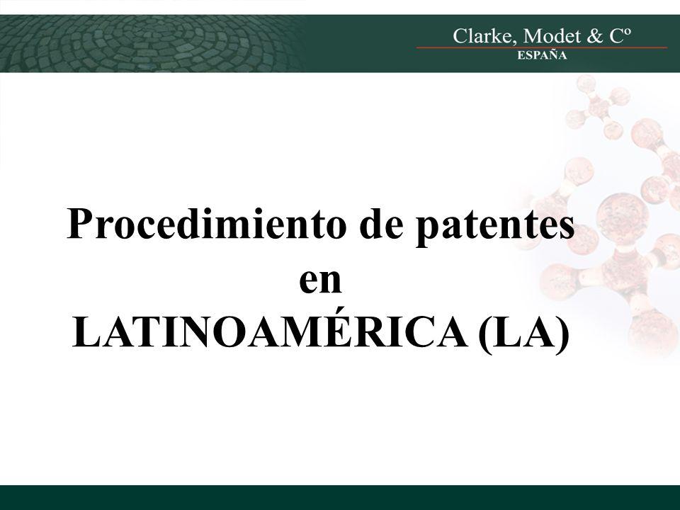 Procedimiento de patentes en LATINOAMÉRICA (LA)
