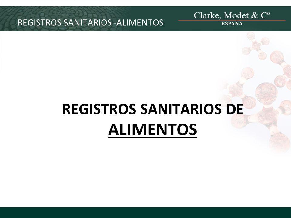REGISTROS SANITARIOS -ALIMENTOS REGISTROS SANITARIOS DE ALIMENTOS