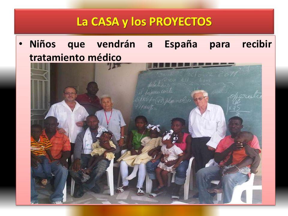 Niños que vendrán a España para recibir tratamiento médico