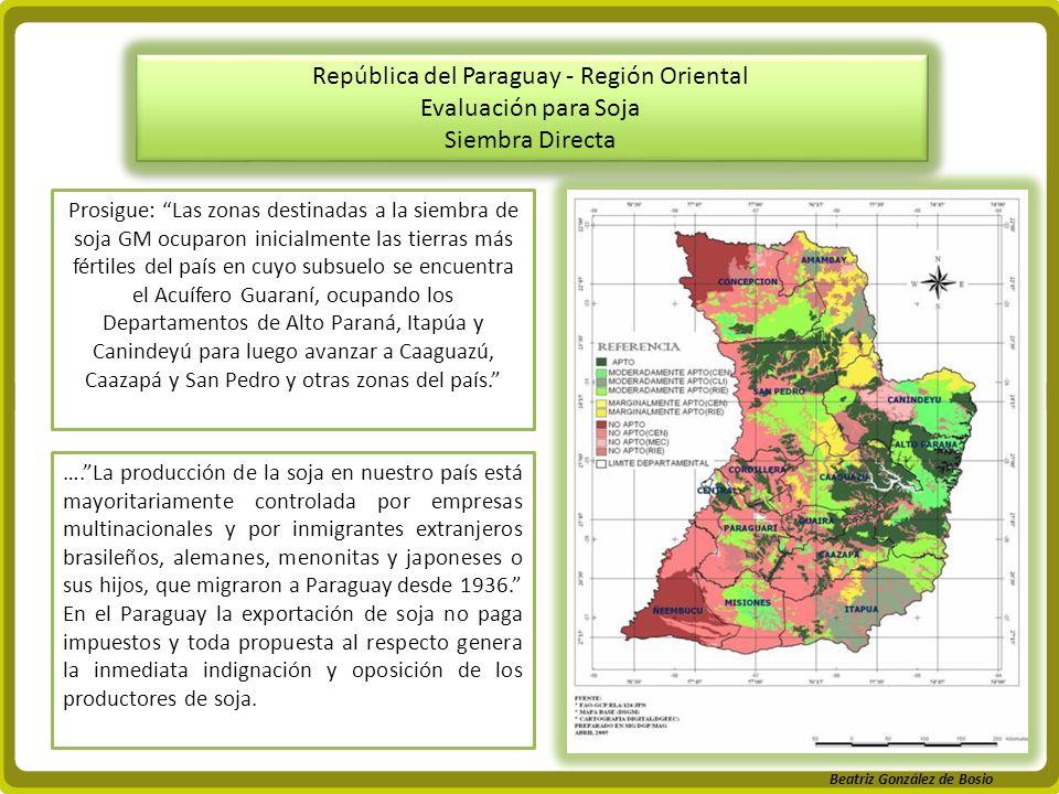 República del Paraguay - Región Oriental Evaluación para Soja Siembra Directa República del Paraguay - Región Oriental Evaluación para Soja Siembra Di
