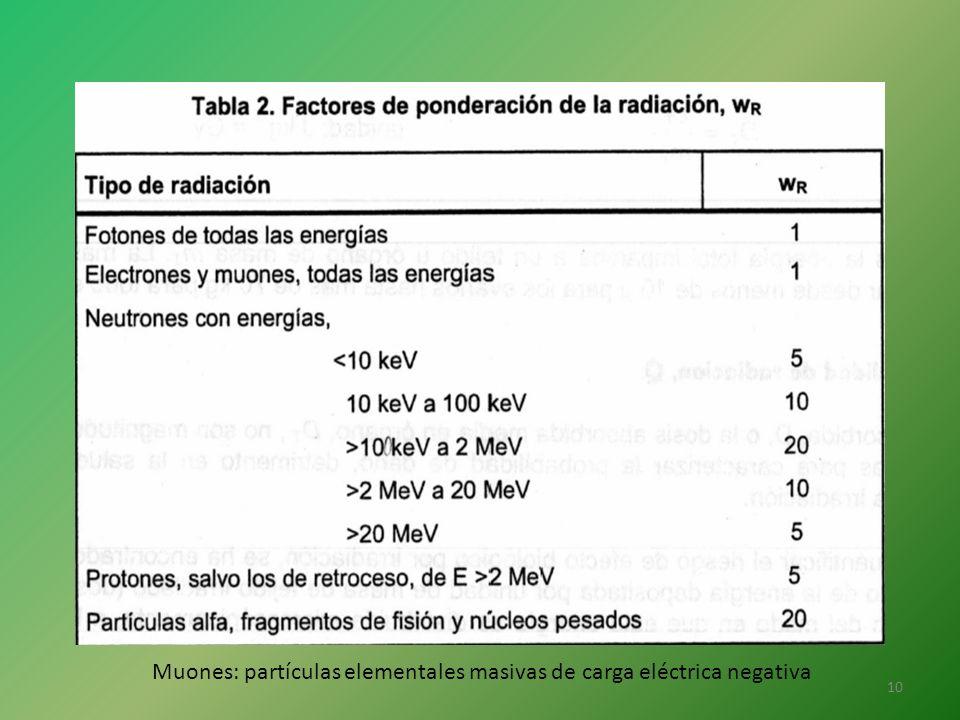 Muones: partículas elementales masivas de carga eléctrica negativa 10