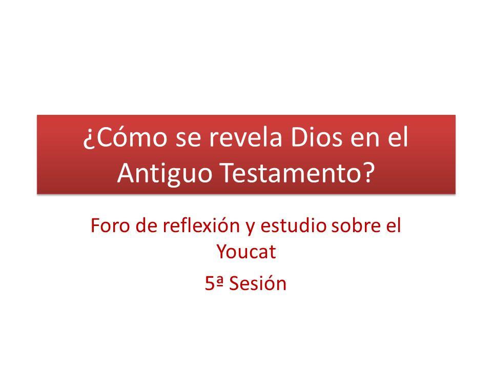 ¿Cómo se revela Dios en el Antiguo Testamento? Foro de reflexión y estudio sobre el Youcat 5ª Sesión