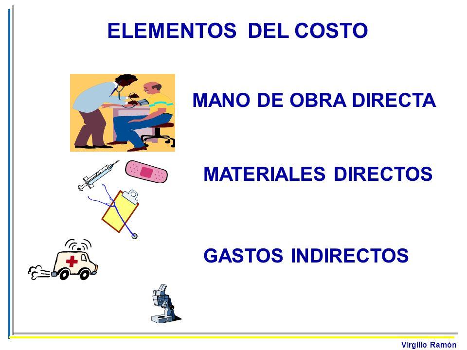 Virgilio Ramón ELEMENTOS DEL COSTO MANO DE OBRA DIRECTA GASTOS GENERALES MATERIALES DIRECTOS GASTOS INDIRECTOS