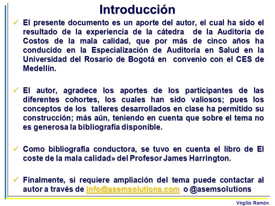 Virgilio RamónIntroducción El presente documento es un aporte del autor, el cual ha sido el resultado de la experiencia de la cátedra de la Auditoria
