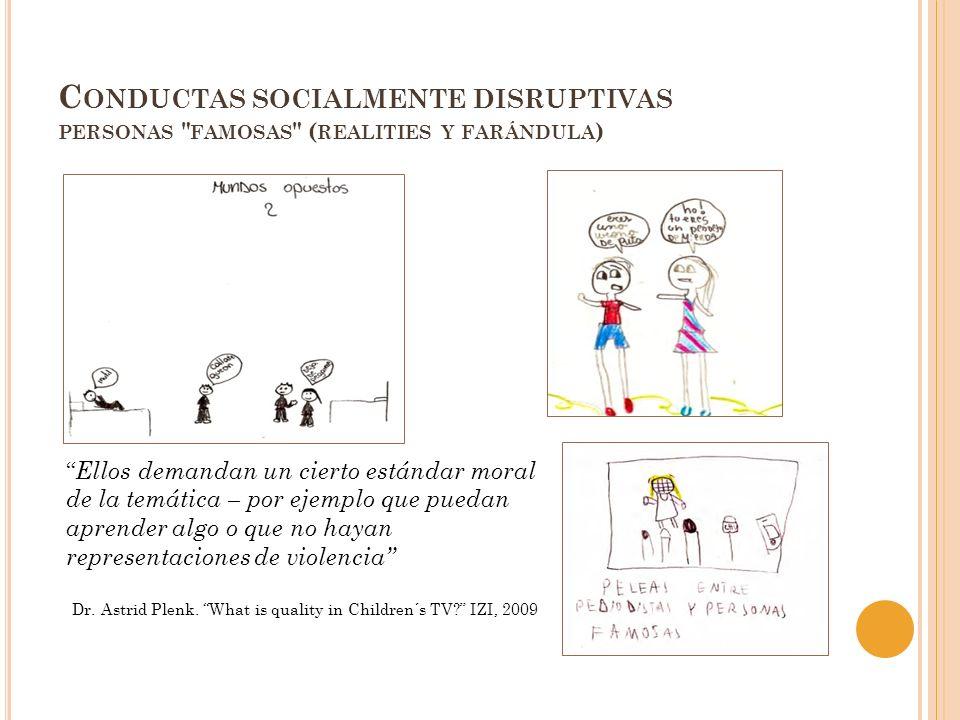 C ONDUCTAS SOCIALMENTE DISRUPTIVAS PERSONAS