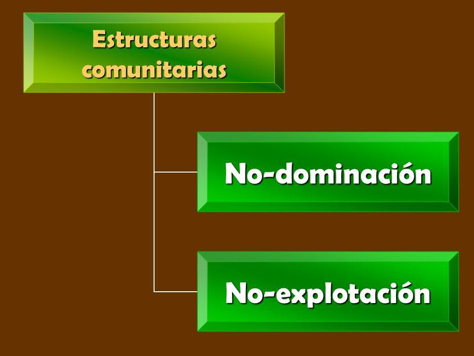 Estructurascomunitarias No- dominación No- explotación