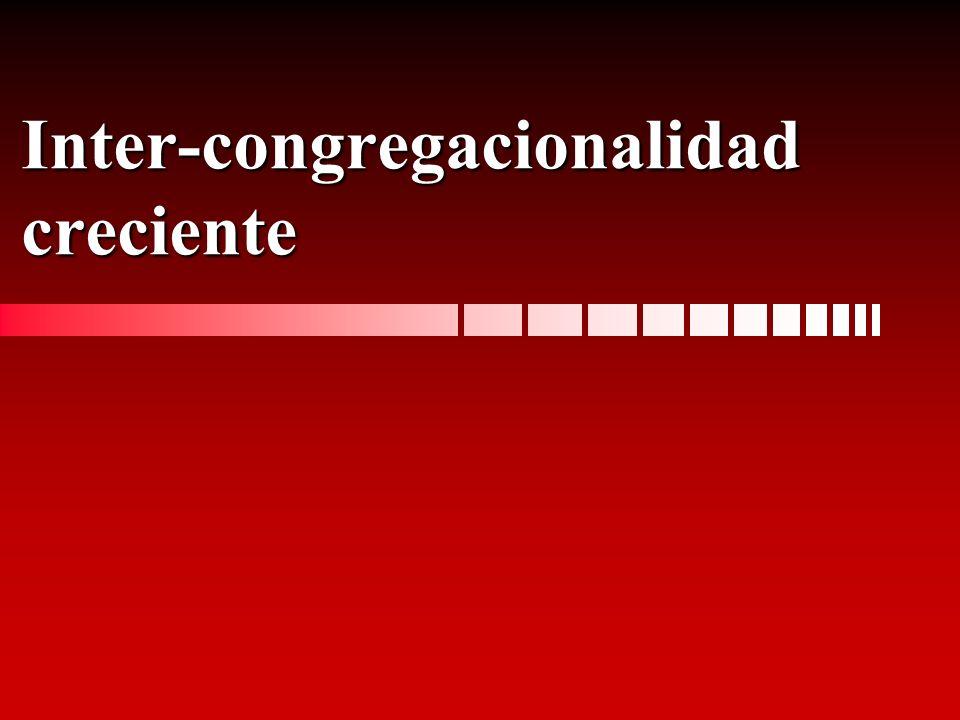 Inter-congregacionalidad creciente