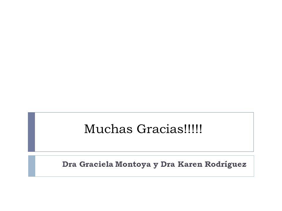 Muchas Gracias!!!!! Dra Graciela Montoya y Dra Karen Rodríguez