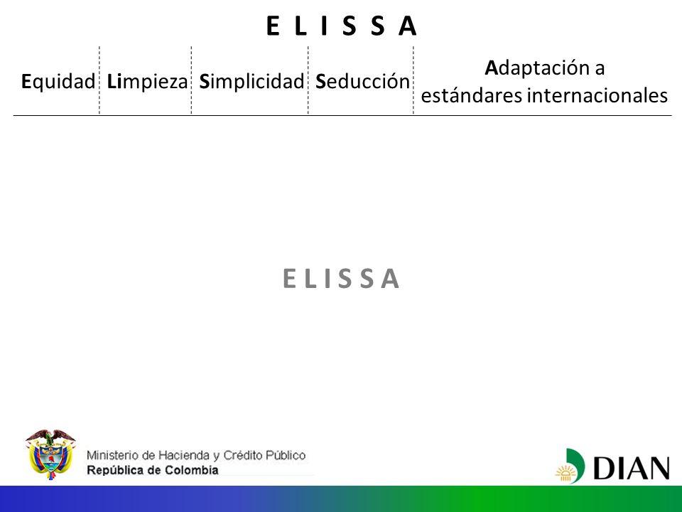 E L I S S A E L IS A S EquidadLimpiezaSimplicidadSeducción Adaptación a estándares internacionales