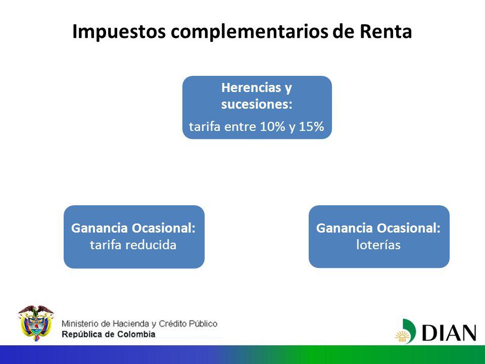 Impuestos complementarios de Renta