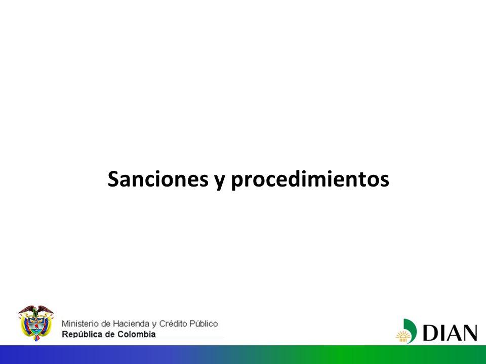Sanciones y procedimientos