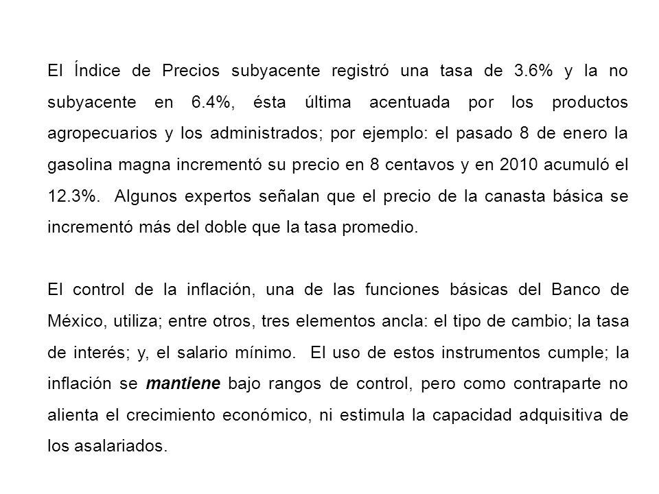 Los ingresos totales del Gobierno federal aumentaron el 7% en 2010, respecto a 2009, tributarios el 10%, en base a la recaudación del Impuesto al Valor Agregado (IVA) que aumentó el 19.9% y el Impuesto Sobre la Renta (ISR) el 12%.