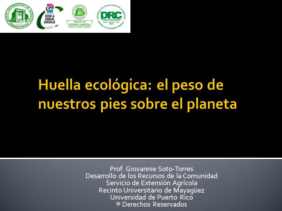 Prof. Giovannie Soto-Torres Desarrollo de los Recursos de la Comunidad Servicio de Extensión Agrícola Recinto Universitario de Mayagüez Universidad de