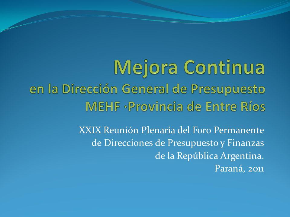 XXIX Reunión Plenaria del Foro Permanente de Direcciones de Presupuesto y Finanzas de la República Argentina.