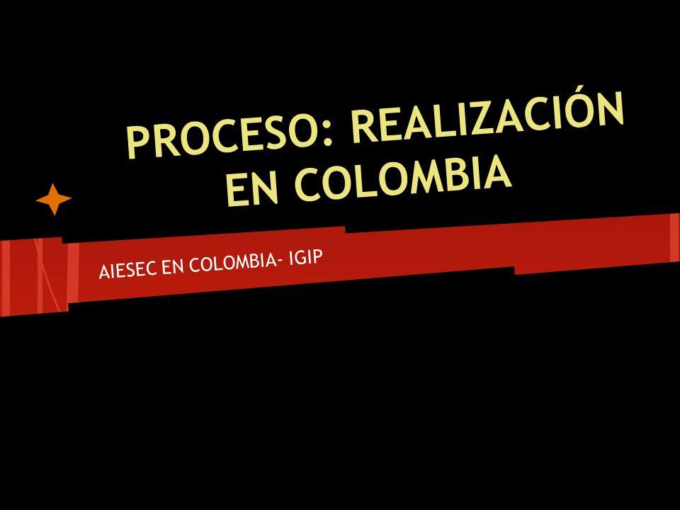 PROCESO: REALIZACIÓN EN COLOMBIA AIESEC EN COLOMBIA- IGIP