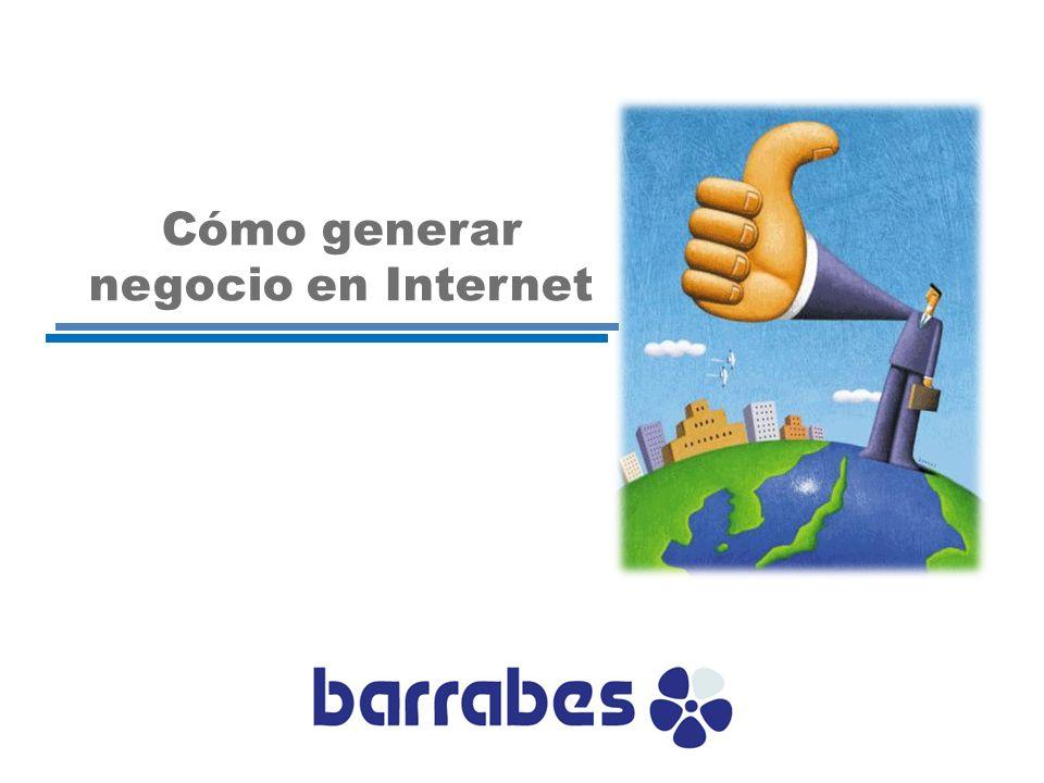 1.Introducción: Trayectoria Barrabés 2.Plan de negocio 3.Atraer tráfico a la web 4.Contenidos 5.Comunicación 6.Comercio 7.Comunidad Cómo generar negocio en internet