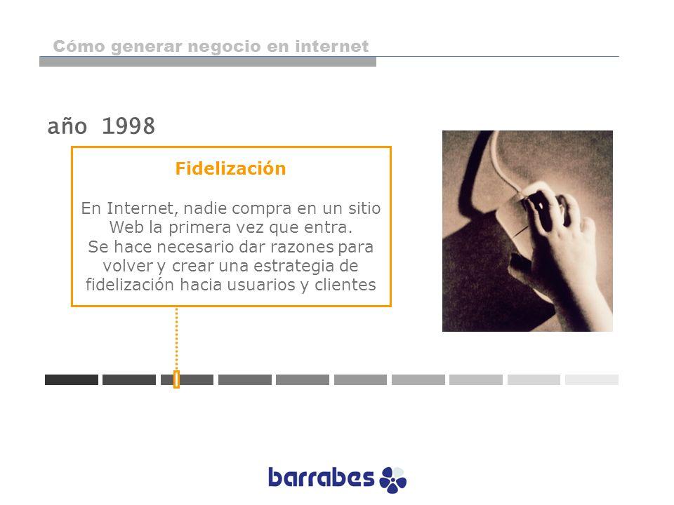 Fidelización En Internet, nadie compra en un sitio Web la primera vez que entra. Se hace necesario dar razones para volver y crear una estrategia de f