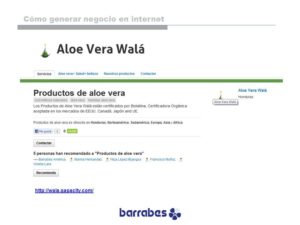 http://wala.qapacity.com/ Cómo generar negocio en internet