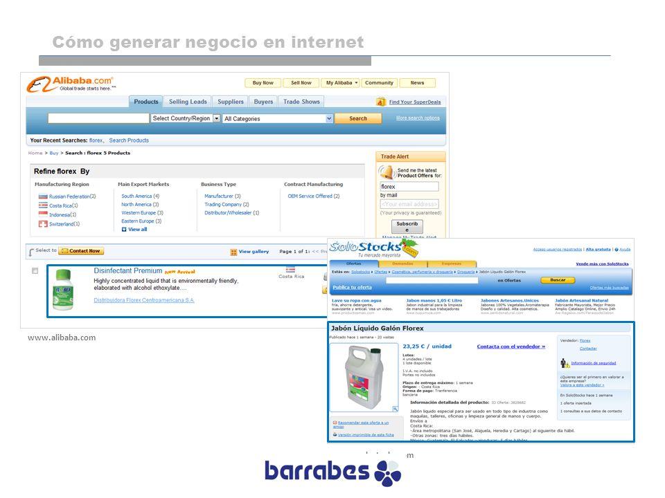 www.alibaba.com www.solostocks.com Cómo generar negocio en internet
