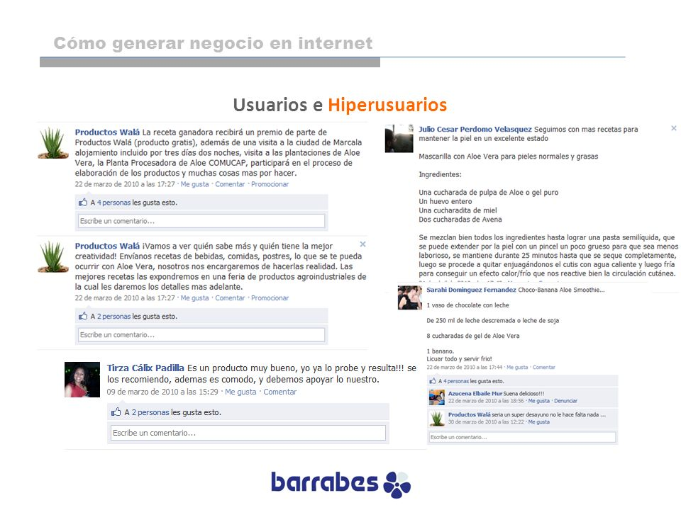 Usuarios e Hiperusuarios Cómo generar negocio en internet