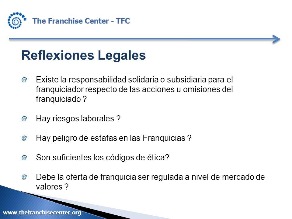 Reflexiones Legales Existe la responsabilidad solidaria o subsidiaria para el franquiciador respecto de las acciones u omisiones del franquiciado ? Ha