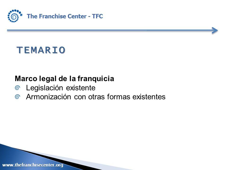 Marco legal para la internacionalización de las franquicias Cuándo es adecuado pensar en exportar la Franquicia .