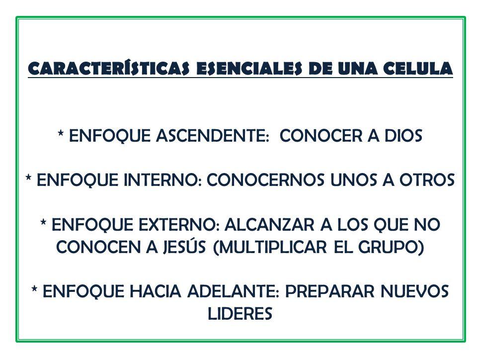 EL LIDERAZGO DE LA CÉLULA COMIENZA CON LA PREPARACIÓN DEL CORAZÓN.