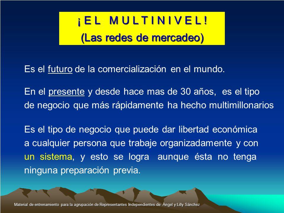 ¡ E L M U L T I N I V E L ! (Las redes de mercadeo) Es el futuro de la comercialización en el mundo. En el presente y desde hace mas de 30 años, es el