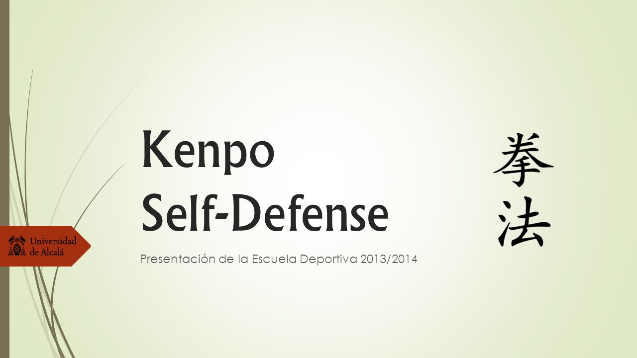 Kenpo Self-Defense Presentación de la Escuela Deportiva 2013/2014