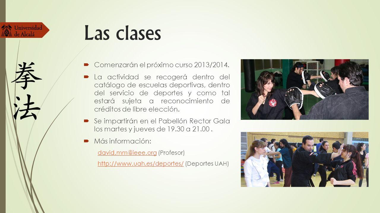 Las clases Comenzarán el próximo curso 2013/2014. La actividad se recogerá dentro del catálogo de escuelas deportivas, dentro del servicio de deportes