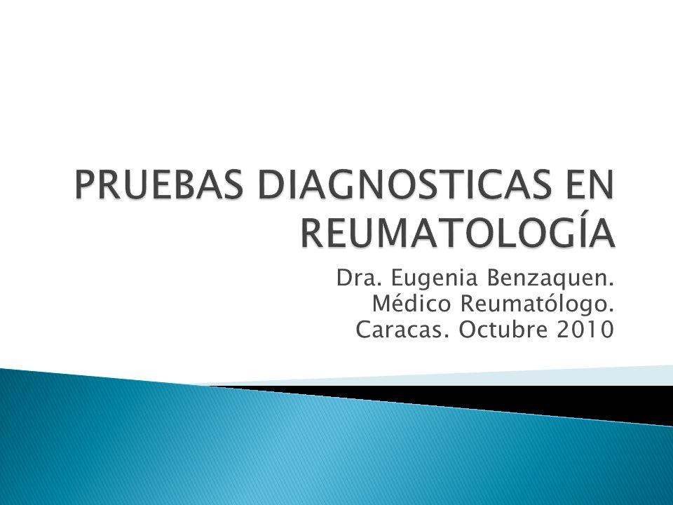 Dra. Eugenia Benzaquen. Médico Reumatólogo. Caracas. Octubre 2010