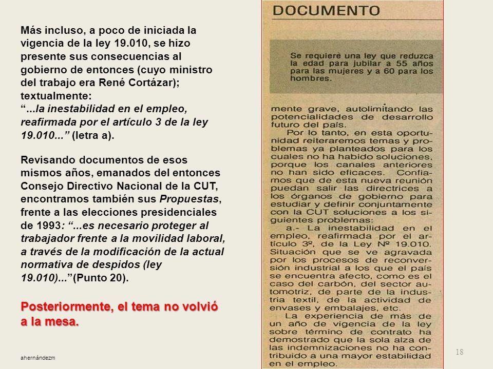 17 Al lado, RevistaUnión y trabajo, número 25, julio de 1992, págs 30 y 31. 11.- Al poco tiempo, lo previsible se hizo evidente