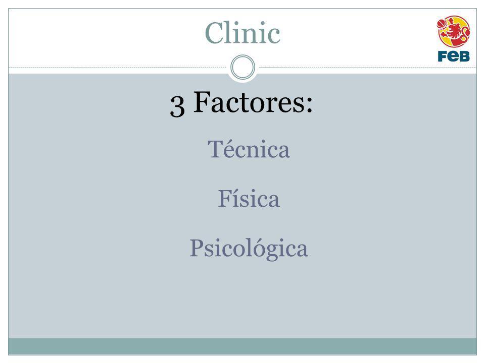 Clinic 3 Factores: Técnica Física Psicológica