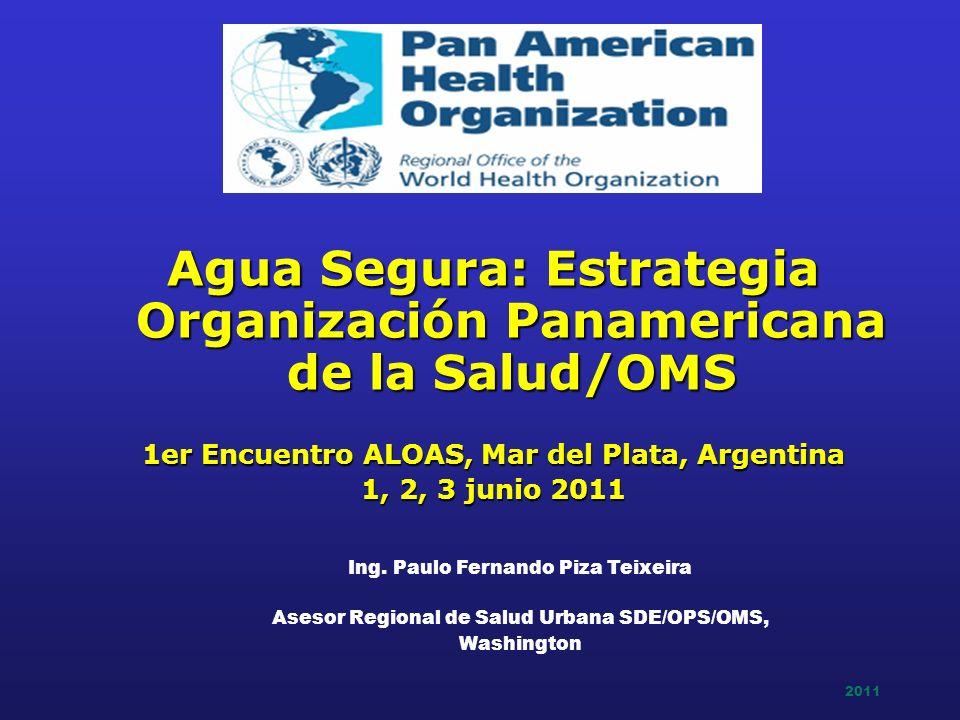 2011 Agua Segura: Estrategia Organización Panamericana de la Salud/OMS 1er Encuentro ALOAS, Mar del Plata, Argentina 1, 2, 3 junio 2011 Ing. Paulo Fer