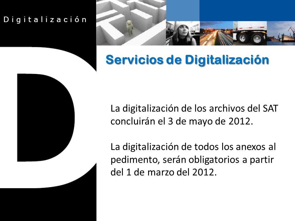 La digitalización de los archivos del SAT concluirán el 3 de mayo de 2012.
