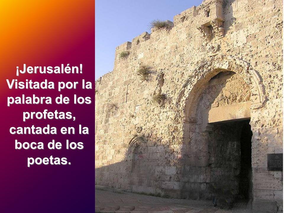¡Jerusalén! Visitada por la palabra de los profetas, cantada en la boca de los poetas.
