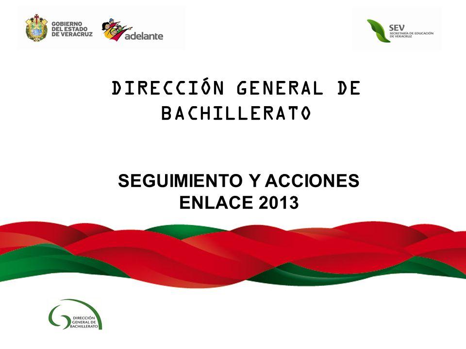 SEGUIMIENTO Y ACCIONES ENLACE 2013 DIRECCIÓN GENERAL DE BACHILLERATO