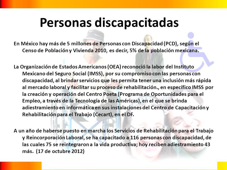 En México hay más de 5 millones de Personas con Discapacidad (PCD), según el Censo de Población y Vivienda 2010, es decir, 5% de la población mexicana