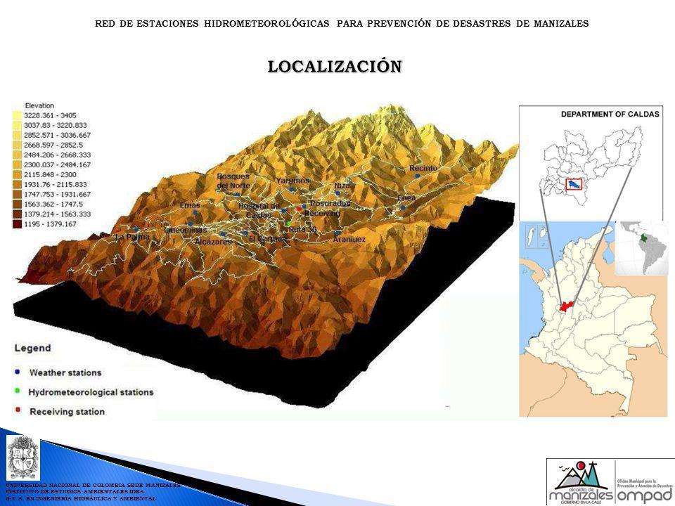 UNIVERSIDAD NACIONAL DE COLOMBIA SEDE MANIZALES INSTITUTO DE ESTUDIOS AMBIENTALES IDEA G.T.A. EN INGENIERÍA HIDRÁULICA Y AMBIENTAL RED DE ESTACIONES H
