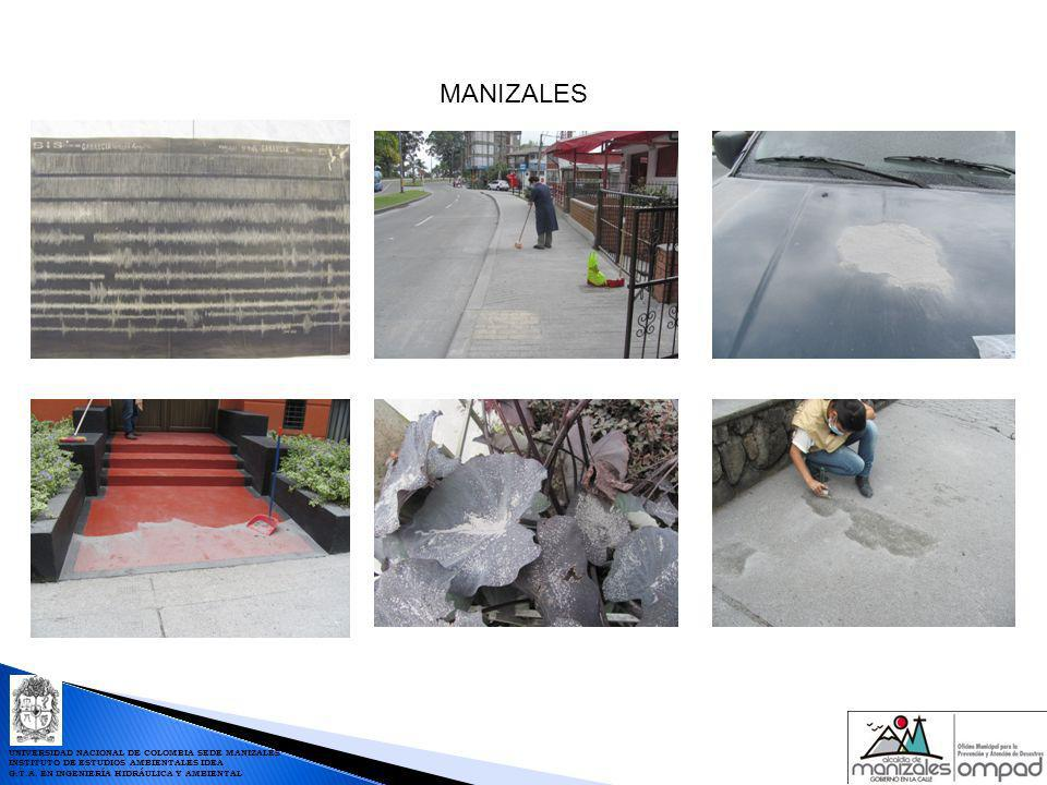 CARACTERÍSTICAS MÁXIMAS DE LA LLUVIAS EN MANIZALES Fuente: Red de Estaciones Hidrometeorológicas de Manizales RED DE ESTACIONES HIDROMETEOROLÓGICAS PARA PREVENCIÓN DE DESASTRES DE MANIZALES UNIVERSIDAD NACIONAL DE COLOMBIA SEDE MANIZALES INSTITUTO DE ESTUDIOS AMBIENTALES IDEA G.T.A.